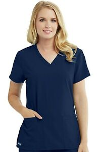 "Grey's Anatomy #2115 V-Neck Detailed Scrub Top in ""Indigo"" Size XL"