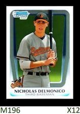 1-2011 BOWMAN CHROME DRAFT NICKY NICHOLAS DELMONICO WHITE SOX QTY