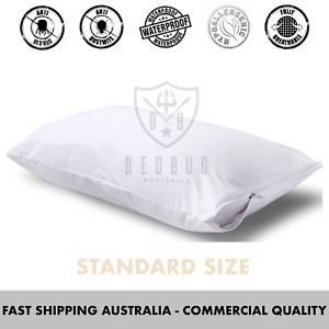 2 x Pillow Cover and Protector | Dust Mite | Allergies | Bed Bug | Standard Size