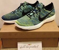 NIKE HTM LUNAR Flyknit Blue Mixture US10.5 UK9.5 535089-400 Racer NRG Aqua 2012
