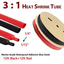 Assorted Heat Shrink Tubing Kit Tube Marine Grade Waterproof Adhesive Liner 31
