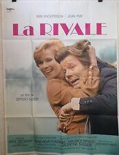 Affiche LA RIVALE. 120 x 160 cms. Sergio Gobbi, jean Piat, bibi Andersson