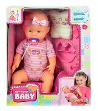 Simba 105039005 - New Born Baby, Mädchen Puppe, Funktionspuppe, NEU + OVP
