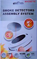Magnetisches Montagesystem für Rauchmelder Magnet Befestigung kein Bohren NEU !!