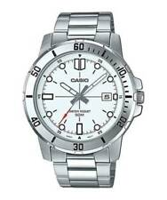 NEW Casio MTP-VD01D-7E Men's Stainless Steel Bracelet Watch WHITE Date Dial 50M
