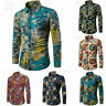 Men's Dress Shirt Dashiki Hippie Shirts Slim Fit Blouse Top Hip Hop Casual Shirt