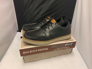 Mens Skechers Heston-Sendo Memory Foam Moc-Toe Lace Up Deck Shoes Size UK 8
