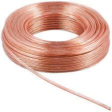 10 m Lautsprecherkabel 99,9 % Kupfer Zwillingslitze Transp  2 x 2,5 mm² OFC 5464
