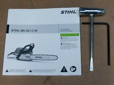 STIHL MS261C M chainsaw tools, owners manual,  OEM