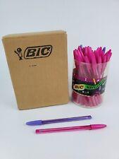 1990's NOS Full Box Bic Wavelengths Pens jewel tones Pink Purple - Not Writing-