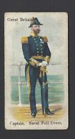 WILLS - SOLDIERS & SAILORS (GREY) - GREAT BRITAIN, CAPTAIN, NAVAL DRESS