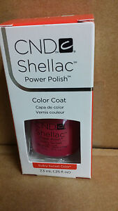 Creative  CND SHELLAC SULTRY SUNSET  UV Gel .25oz Soak Off Gel Polish  !!!