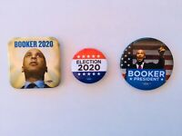 Cory Booker For President 2020 Set Of 3 Buttons