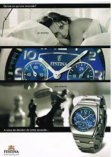Publicité Advertising 2003 La Montre Festina Chronohraph