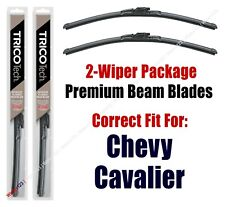 1982-1989 Chevrolet Chevy Cavalier Wipers 2pk Upgrade Beam Blades - 19160x2