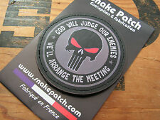 Snake patch PVC - GRIS - PUNISHER god will judge our enemies SCRATCH urban