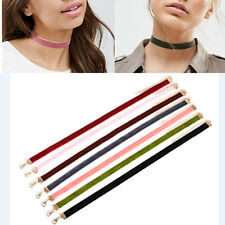 7Pcs/Set Velvet Choker Collar Bib Necklace Gothic Punk Handmade Jewelry Gift L7