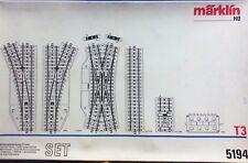 Marklin HO 5194 T3 Boxed Double Slip Yard Track Set - New