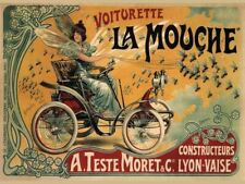 Vintage French Motor Car Advertisement Retro Metal Wall Plaque Art Sign Garage
