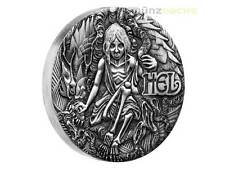 2 $ Dollar Norse Goddesses Hel High Relief Tuvalu 2 oz Silber Silver 2017