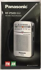 Panasonic RF-P50D FM-AM 2-Band Receiver Personal Radio (silver)