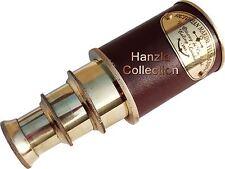Vintage Leather Antique Brass Telescope Nautical Pirate Spyglass Marine Scope