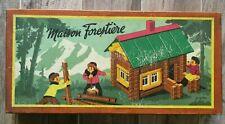 LA MAISON FORESTIÈRE jeu de construction vintage JEUJURA bois ancien