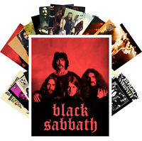Postcards Pack [24 cards] Black Sabbath Heavy Metal Rock Music Vintage CC1266