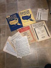 Clarinet Bb Music Book Lot Master Method for Band Belwin Intermediate Selmer