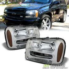 Fits 2002-2009 Chevy Trailblazer Ext Replacement Headlights Headlamps Left+Right