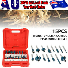 """15pcs Router Bits Sets TCT Tungsten Carbide Tipped 1/4"""" Shank Wood Working Kit--"""