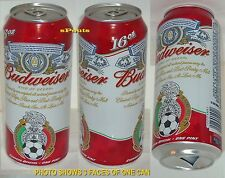 2005 TEAM MEXICO WORLD CUP SOCCER OFFICIAL CERVEZA BUDWEISER PINT BEER CAN SPORT
