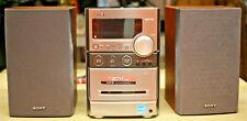 Sony CMT-NEZ30 AM/FM Stereo CD Cassette Micro Hi-Fi Component System NO REMOTE