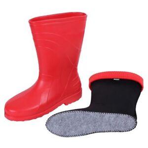 New RED LUNA Thermal LIGHTWEIGHT EVA Wellies Wellingtons Rain Boots Women -30 C