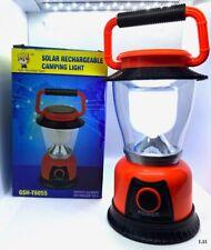 SOLAR RECHARGEABLE CAMPING LIGHT- RECARCABLE SOLAR LINTERNA( Orange)