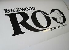 ROCKWOOD ROO RV FOREST RIVER DECAL STICKER CAMPER WHEEL TRAILER