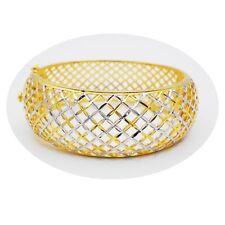 Carve 22K 23K 24K Thai Baht Yellow & White  Gold Plated Jewelry Bangle Bracelet