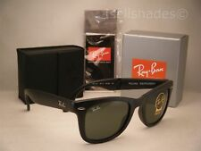 Ray Ban Folding Wayfarer Matte Black w G-15 Lens (RB4105 601S 50)