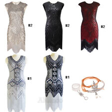 1920s Flapper Dress Gatsby Evening Party Sequin Fringe Dresses Wedding Gown Prom