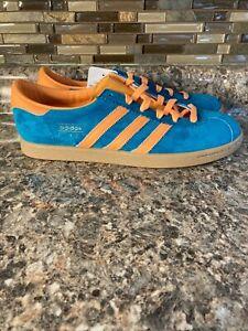 Adidas Originals Stadt Limited Edition Shoe Teal/Orange EF9168 Men's 10