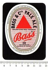Vintage UK Beer Label - Bass Brewery - Burton on Trent - Bass Pale Ale (vers. b)