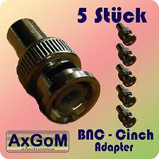 Adapter BNC auf Cinch/RCA - m/w - 5 Stück