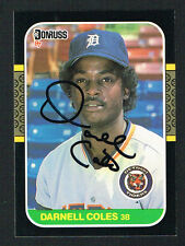 Darnell Coles #230 signed autograph auto 1987 Donruss Baseball Trading Card