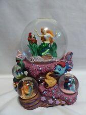 Disney The Little Mermaid Ariel Under The Sea Snow Globe Musical Multi Globes