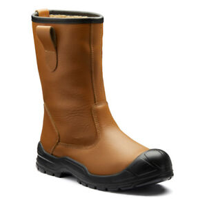 Dickies Dixon Lined Rigger Boots Steel Toe Cap & Midsole Faux Fur (FA23350S)