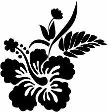 This is a hibiscus flower design vinyl cut sticker or decal great for car!!!