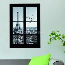 3D Eiffel Tower Scene Outside Window Home Room Wall Sticker Decal