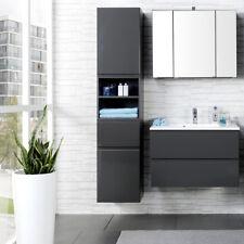 Komplett Badezimmermöbel Set 80cm Waschtisch Spiegelschrank Badmöbel Waschplatz