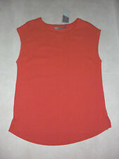 Katies: Size: M. (12-14) Modern Bright-Orange Light-Weight Drape, Stylish Top