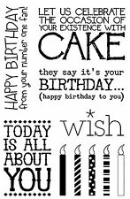 BIRTHDAY CELEBRATE Clear Unmounted Stamp Set Impression Obsession CL568 NEW